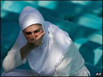 Mujer bosnia musulmana.