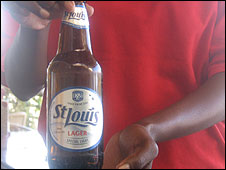 St Louis beer from the Kgalagadi Breweries