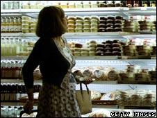 Lady food shopping