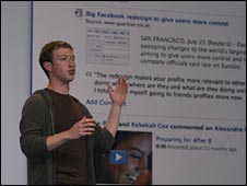 Facebook boss Mark Zuckerberg, BBC