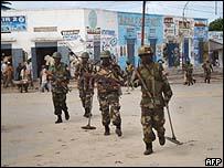 دورية للقوات الافريقية في مقديشيو