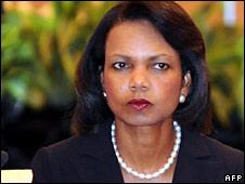 Condoleezza Rice in Singapore on 24 July 2008