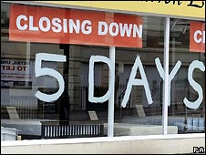 Closing down sale at furniture shop in York