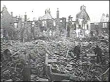 Clydebank following two days of bombing