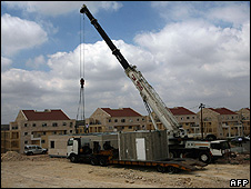 Building work at the West Bank settlement of Modiin Illite