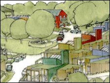 One of the artist's imptressions of how Lawrenny could look