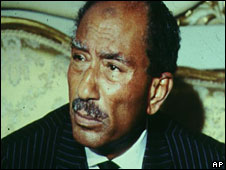 President Anwar Sadat, pictured in 1980