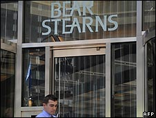 An office of investment bank Bear Stearns