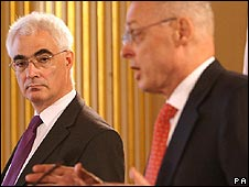 British Chancellor Alistair Darling and US Treasury Secretary Henry Paulson