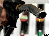 Petrol pump nozzle - file pic