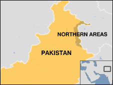 Map of Pakistan's Northern Areas