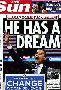 Obama en la portada del The Sun el 6 de mayo