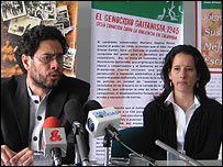 Iván Cepeda y Roxana Althoz