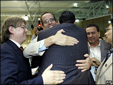 Ecuador assembly members celbrate winning the vote (24 July 2008)