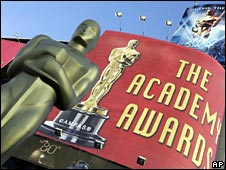 The exterior of the Oscars venue
