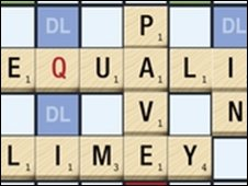 Part of the new authorised Scrabble game