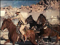 Scene from the film How The West Was Won (courtesy of Warner Bros archive)
