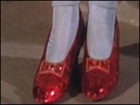 Dorothy's red shoes in the Wizard of Oz (courtesy of Warner Bros archive)