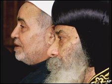 Egypt's top Sunni Muslim cleric and Coptic bishop