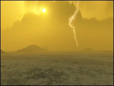 Artist's impression of lightning on Venus (Pic: J Whatmore)