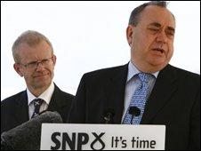 Alex Salmond and John Mason