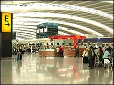 Photo of the departures area of T5