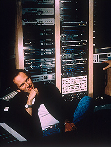 Hans Zimmer in his studio