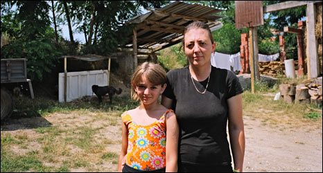 Dragana Gospic and one of her daughters