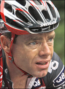 Cadel Evans in action during Friday's stage