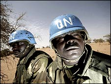 UN/AU peacekeepers in Sudan (image: UN peacekeeping department)