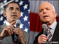 Barack Obama y John McCain