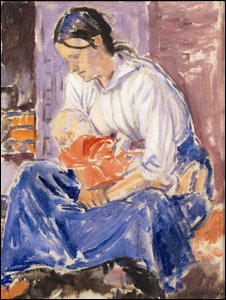 Evan Walters, Mother and Babe, 1919, oil on canvas, private collection