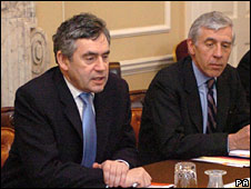 Gordon Brown and Jack Straw in 2007