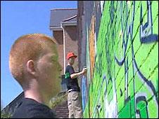 Graffiti wall on Saturday