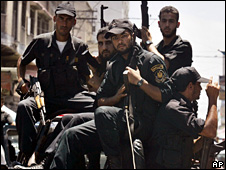 Hamas security officials in Gaza (26 July 2008)