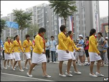Chinese athletes in the Olympic village