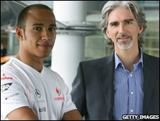 Lewis Hamilton and Damon Hill