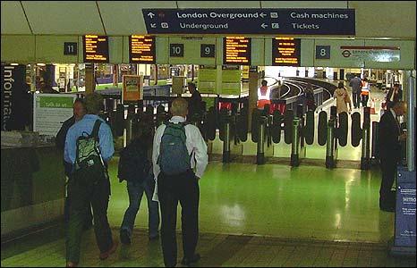 Platforms at Euston station