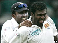 Mahela Jayawardene and Muttiah Muralitharan