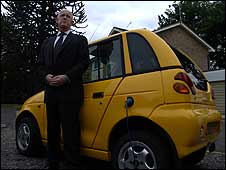 G-Wiz driver Ray Morrison