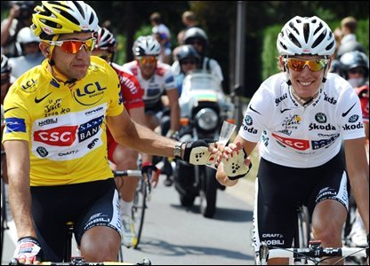 Carlos Sastre and Andy Schleck