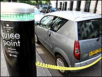 Westminster electric car juice point