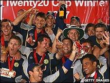 Kent winning the 2007 Twenty20 Cup