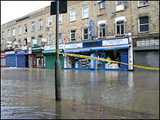 Flood-hit Merton High Street