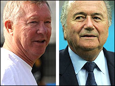 Sir Alex Ferguson (left) and Sepp Blatter
