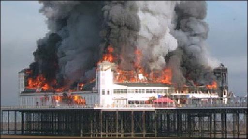 Pier fire