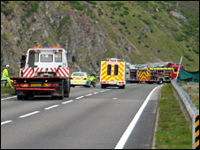 Scene of crash on A9