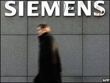 Man outside Siemens office