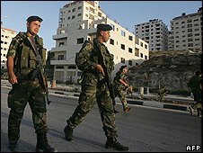 Palestinian Authority security men in Nablus