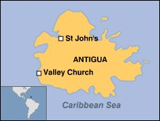 Map of Antigua